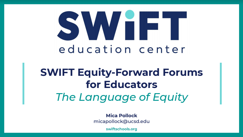 The Language of Equity: One Introduction to Some Core Ideas from Schooltalk